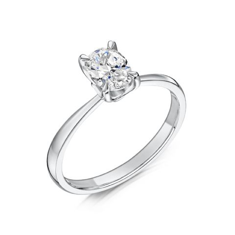 0.4 Carat GIA GVS Diamond solitaire 18ct White Gold. Oval diamond Engagement Ring, MWSS-1176/040